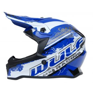 Wulfsport casco niños Junior Cub Off Road Pro azul