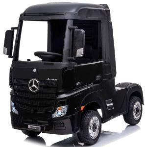 Camión infantil eléctrico Mercedes Actros negro