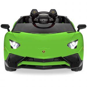 Lamborghini elektrische kinderauto groen voorkant