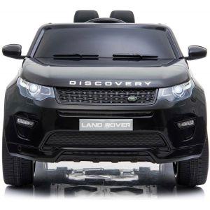 Land Rover Discovery kinderauto zwart voorkant bumper koplampen