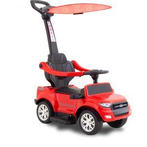 Ford Ranger kinderauto zonnescherm rood zijaanzicht