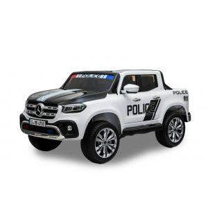Mercedes coche eléctrico para niños policía pick-up 2 plazas