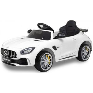 Mercedes coche eléctrico para niños GTR AMG blanco