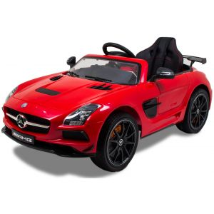 Mercedes coche eléctrico para niños AMG SLS rojo