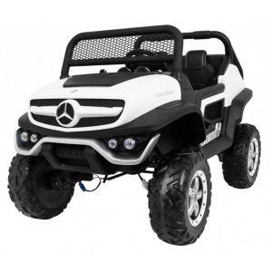 Mercedes coche eléctrico para niños Unimog Mini blanco