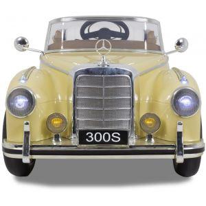 Mercedes 300s kinderauto crème voorlampen