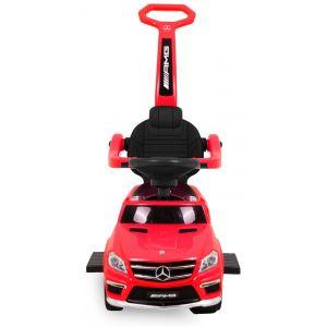 Mercedes GL63 loopauto rood vooraanzicht voorlichten