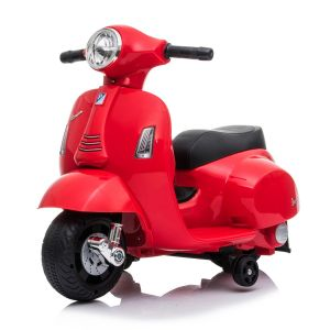 Mini vespa scooter eléctrico para niños rojo