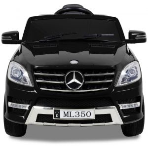 Mercedes ML350 kinderauto zwart vooraanzicht