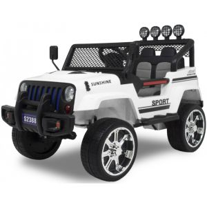 Kijana coche eléctrico para niños Jeep Monster blanco