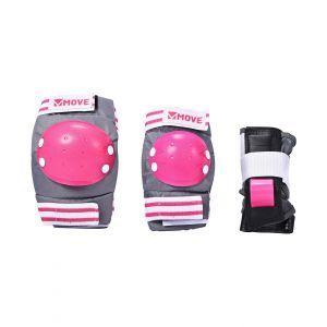 Move skatebescherming 3-delig roze