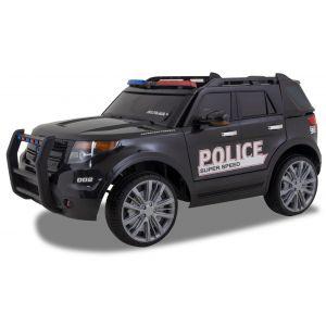 Kijana Police Jeep coche eléctrico para niños estilo Ford negro