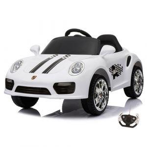 Kijana coche eléctrico para niños estilo Porsche blanco