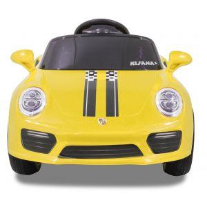 Kijana coche eléctrico para niños Speedy estilo porsche amarillo