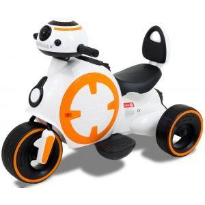 """Kijana motocicleta eléctrica para niños """"Batalla de estrellas"""" blanco"""