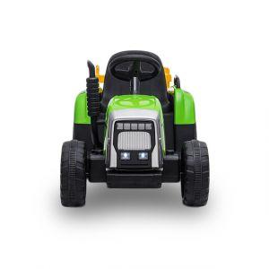 Kijana Tractor eléctrico para niños con remolque verde