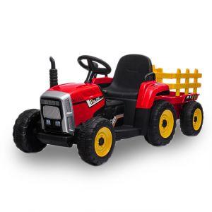 Kijana Tractor eléctrico para niños con remolque rojo