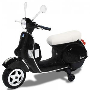 Elektrische Vespa kinderscooter zwart
