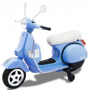Vespa scooter eléctrico para niños azul