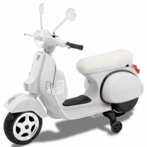 Vespa elektrische kinderscooter wit