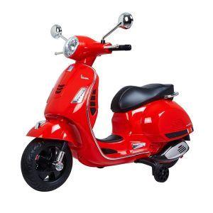 Vespa Scooter eléctrico para niños GTS rojo