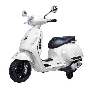 Vespa GTS scooter eléctrico para niños blanco