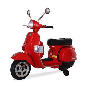 Vespa scooter eléctrico para niños rojo