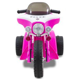 Kijana motocicleta policía infantil Wheely rosa
