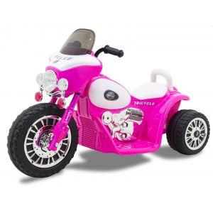 Kijana motocicleta policía para niños Wheely rosa