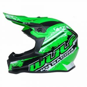 Wulfsport casco para niños Junior Cub Off Road Pro  verde