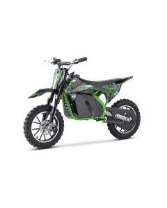 Kijana moto de tierra para niños outlaw 49cc verde