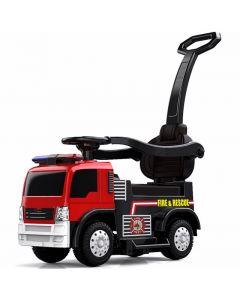 Kijana correpasillos camión de bomberos rojo