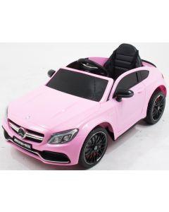 Mercedes coche eléctrico para niños C63 AMG rosa