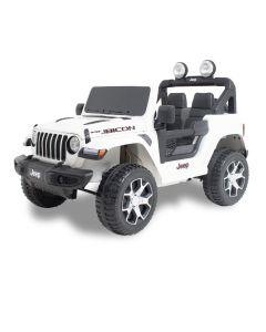 Jeep coche eléctrico para niños Wrangler blanco