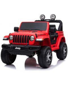 Jeep coche eléctrico para niños Wrangler rojo