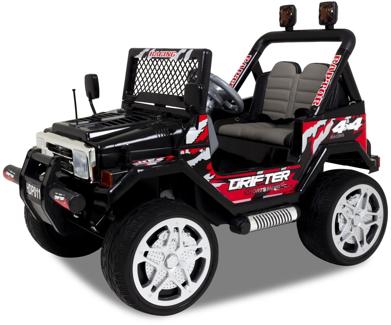 Jeep coche eléctrico para niños negro