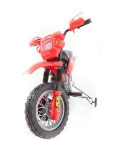 Kijana motocicleta eléctrica para niños de tierra rojo