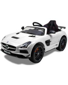 Mercedes coche eléctrico para niños AMG SLS blanco