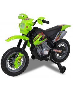 Kijana motocicleta eléctrica para niños estilo motocross verde