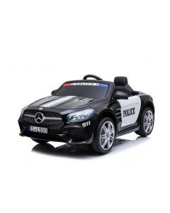 Mercedes coche eléctrico para niños policía SL500 negro