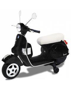 Vespa scooter eléctrico para niños negro