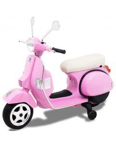 Vespa scooter eléctrico para niños rosa