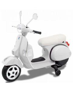 Vespa scooter eléctrico para niños blanco