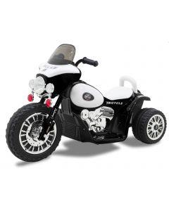 Kijana motocicleta eléctrica para niños estilo policía Wheely negro